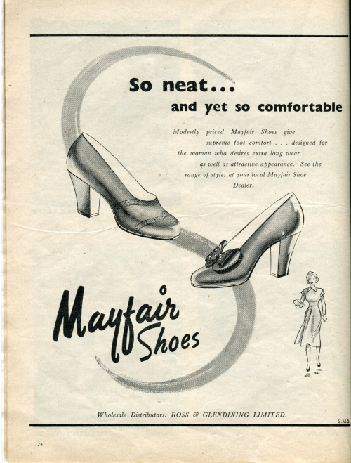 vintage shoe ad004
